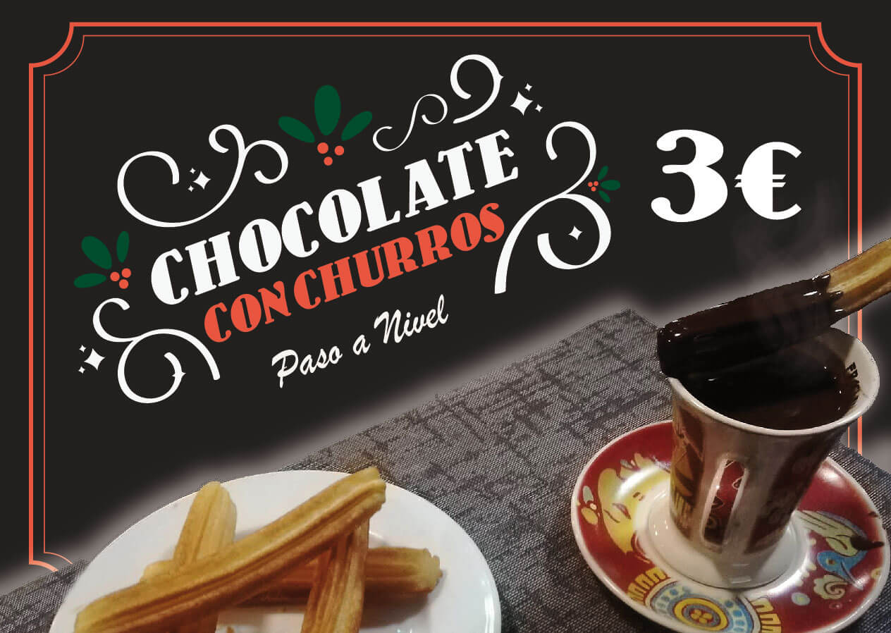Chocolate con churros en Paso a Nivel en Porriño